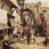 Scène de rue de Jaffa 70×60 cm