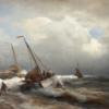 Le débarquement en mer agitée 70×50 Cm