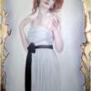 Portrait de Angie contour Or 24 Carats 60×90 cm